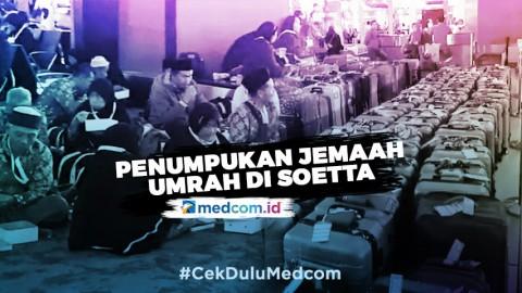 Penumpukan Jemaah Umrah di Terminal 3 Bandara Soetta