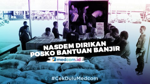 Partai Nasdem Mendirikan Posko Bantuan Banjir