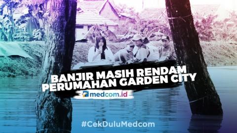 Banjir Masih Rendam Perumahan Garden City Tangerang