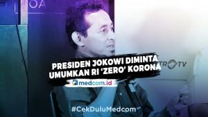 Presiden Jokowi Diminta Umumkan RI 'Zero' Korona