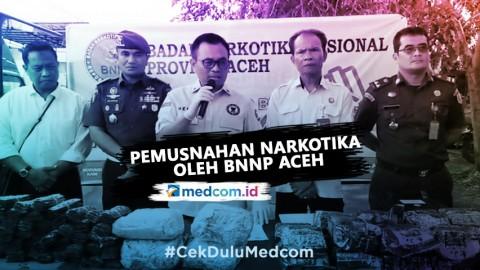 BNNP Aceh Musnahkan Barang Bukti Narkotika