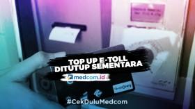 Top Up Tunai e-Toll Ditutup Sementara di Gerbang Tol Jabodetabek