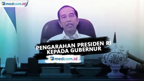 Pengarahan Presiden RI Kepada Gubernur Hadapi Covid-19
