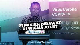 71 Pasien Covid-19 Dirawat di Wisma Atlet