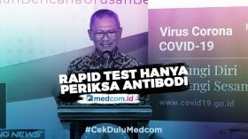 <i>Rapid Test</i> Bukan Pemeriksaan Langsung Terhadap Virus