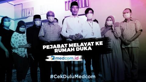 Sejumlah Pejabat Melayat ke Rumah Duka Ibunda Jokowi