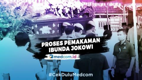 Suasana Pemakaman Ibunda Jokowi