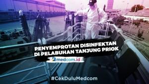 Penyemprotan Disinfektan di Area Pelabuhan Tanjung Priok