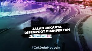 Ruas Jalan Sudirman Thamrin Disemprotkan Disinfektan