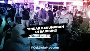 Cegah Korona, Ratusan Petugas Dikerahkan Tindak Kerumunan di Bandung