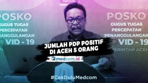 Tambahan Satu Orang, Jumlah PDP Positif di Aceh Menjadi Lima Orang