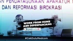 <i> Work From Home </i> Bagi ASN Diperpanjang Hingga 21 April