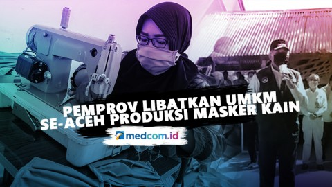 Pemprov Libatkan UMKM se-Aceh Produksi Masker Kain
