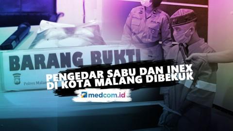 Pengedar Sabu dan Inex di Kota Malang Dibekuk