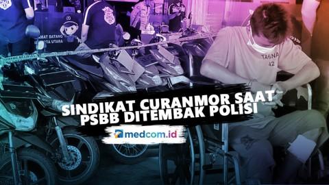 Curi Motor Saat PSBB, Sindikat Curanmor Ditembak Polisi
