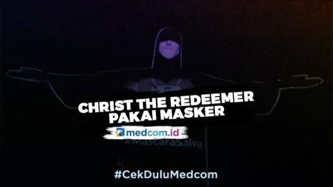 Patung Christ The Redeemer Ikut Kenakan Masker