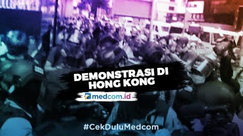 Polisi Bersenjata Bubarkan Demonstran di Hong Kong