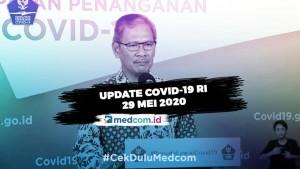 Per 29 Mei Total Kasus COVID-19 RI Bertambah Jadi 25.216
