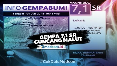 Gempa 7,1 SR Guncang Maluku Utara, Tidak Berpotensi Tsunami