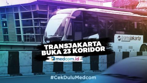 23 Koridor Transjakarta Buka Pelayanan Normal