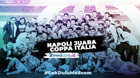 Lewat Adu Penalti, Napoli Juara Coppa Italia