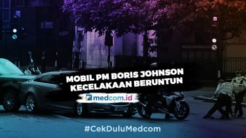 Hindari Pengunjuk Rasa, Mobil PM Boris Johnson Terlibat Kecelakaan Beruntun