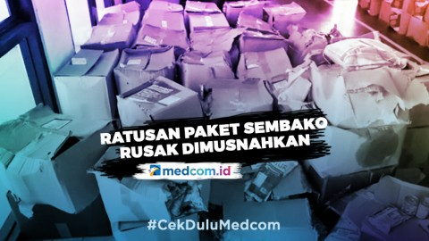 Ratusan Paket Sembako Rusak di Jawa Barat Dimusnahkan