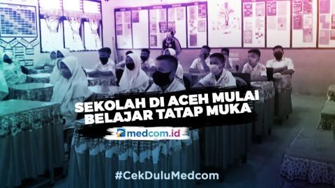 Sekolah di Aceh Mulai Belajar Secara Tatap Muka