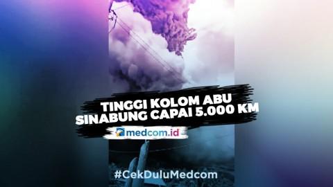 Sinabung Kembali Erupsi, Warga Diminta Pakai Masker & Amankan Sarana Air Bersih