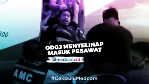 Pria Diduga ODGJ Masuk Pesawat di Bandara Radin Inten II
