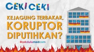 [Ceki-ceki] Gedung Kejagung Terbakar, Luhut Minta Koruptor Diputihkan? Ini Faktanya