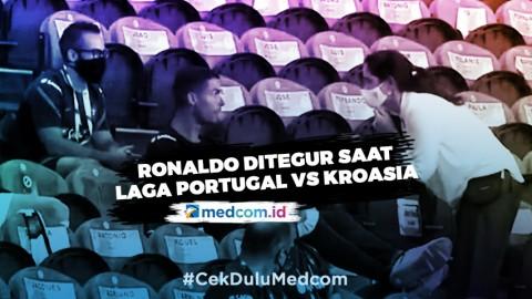 Ronaldo Ditegur karena Tak Pakai Masker di Stadion