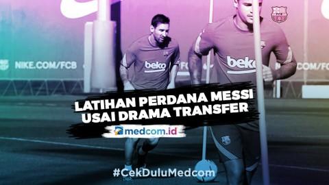 Messi Akhirnya Datang ke Markas Latihan Barcelona
