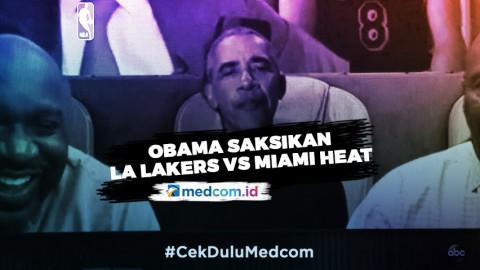 Barack Obama Ikut Saksikan Game Pertama Final NBA