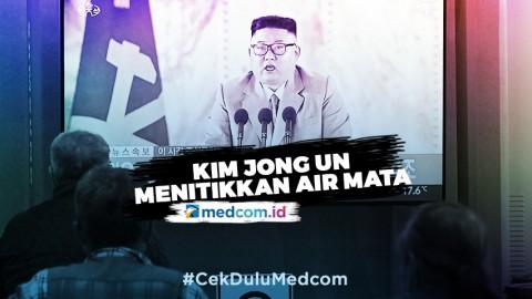 Kim Jong-un Menitikkan Air Mata saat Berpidato