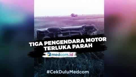 Mobil Patwal Bupati Lampung Selatan Tabrak Tiga Pengendara Motor