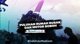 Amukan Angin Puting Beliung Hantam Puluhan Rumah di Bekasi