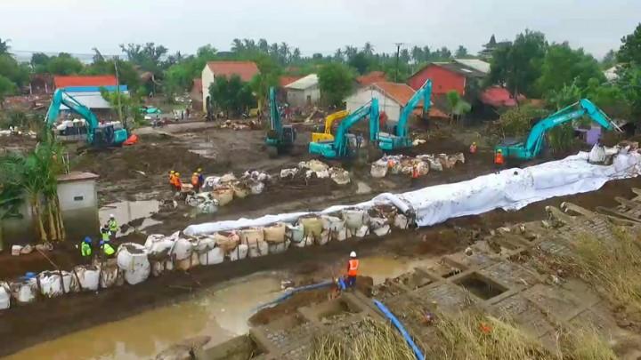 Perbaikan Tanggul Sungai Citarum Terus Dikebut
