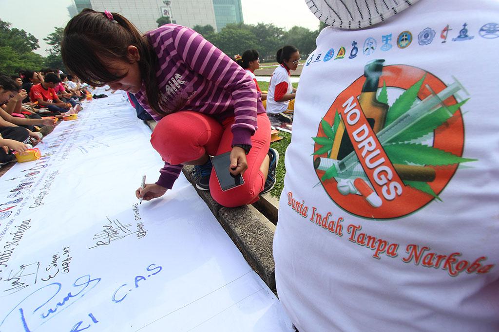 Deklarasi Gerakan Anti Narkoba Di Medan