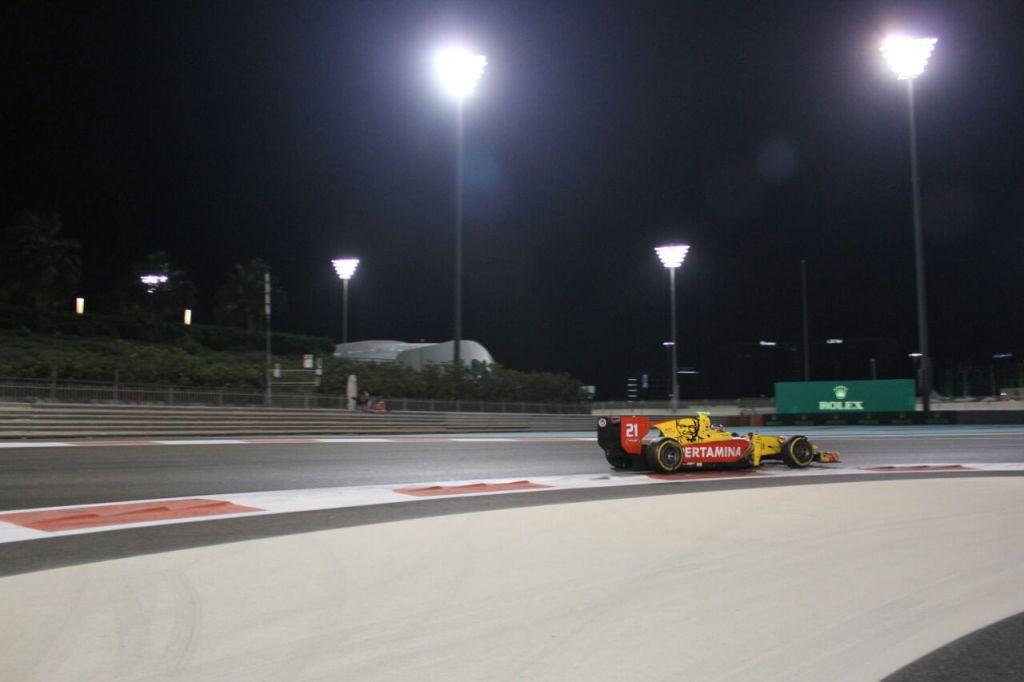 Oliver Rowland Menangi Feature Race F2 GP Abu Dhabi