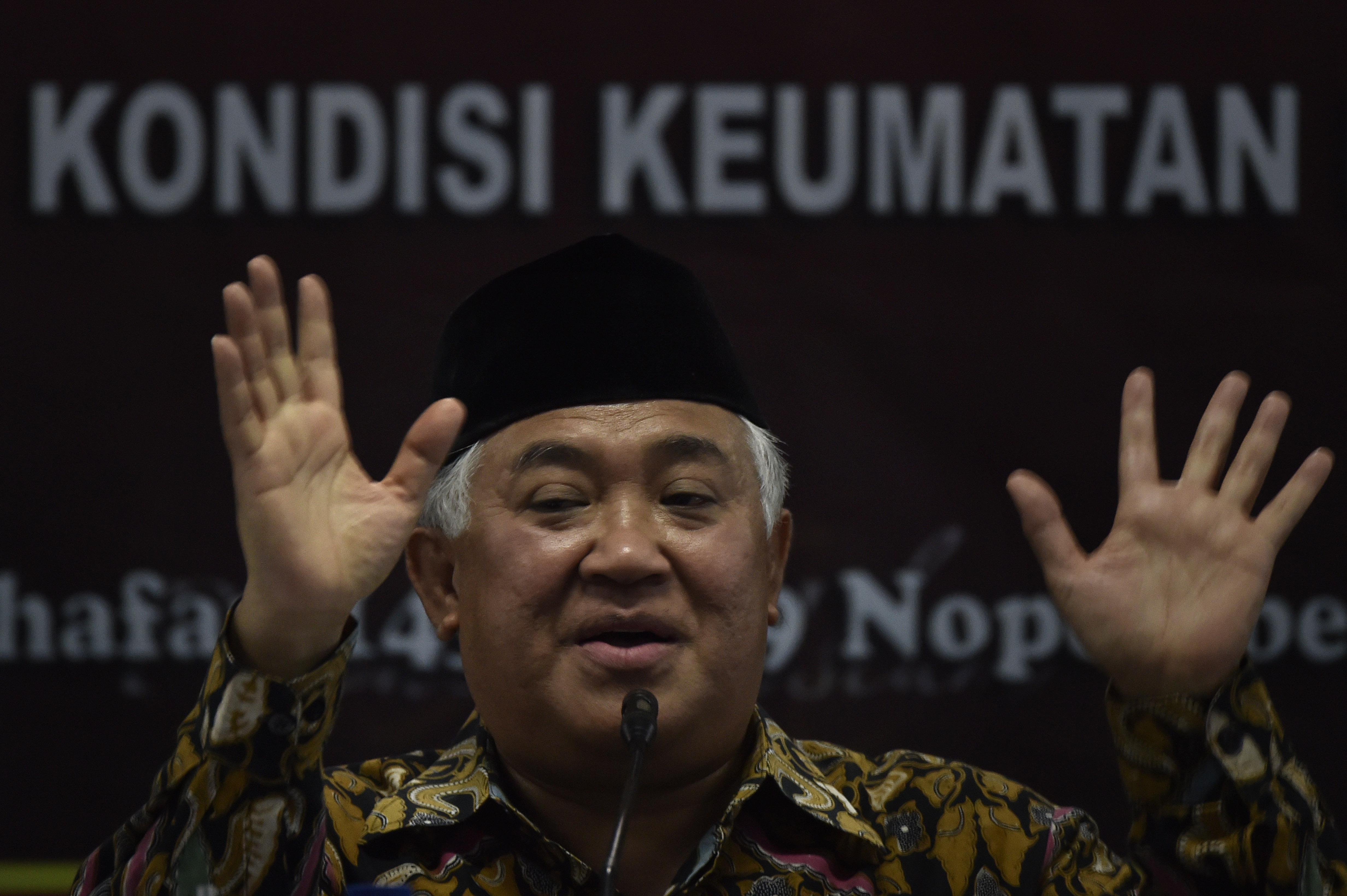 Din Syamsuddin: Keputusan Trump Mematikan Proses Perdamaian