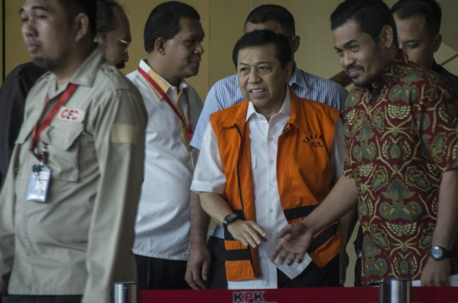 Pengacara Novanto Persoalkan Status Penyidik kasus KTP-el