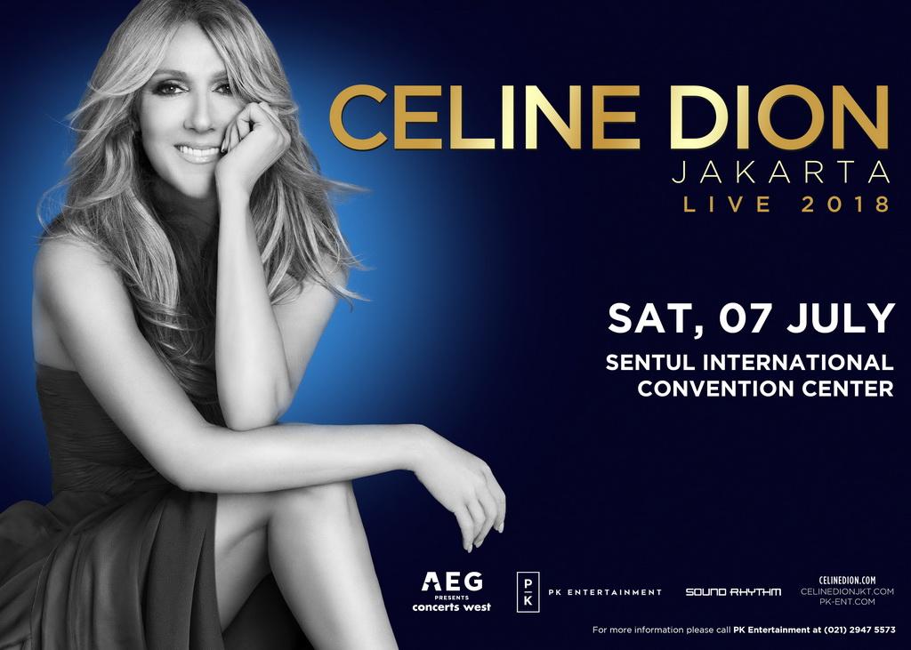 Celine Dion Gelar Konser Perdana di Jakarta