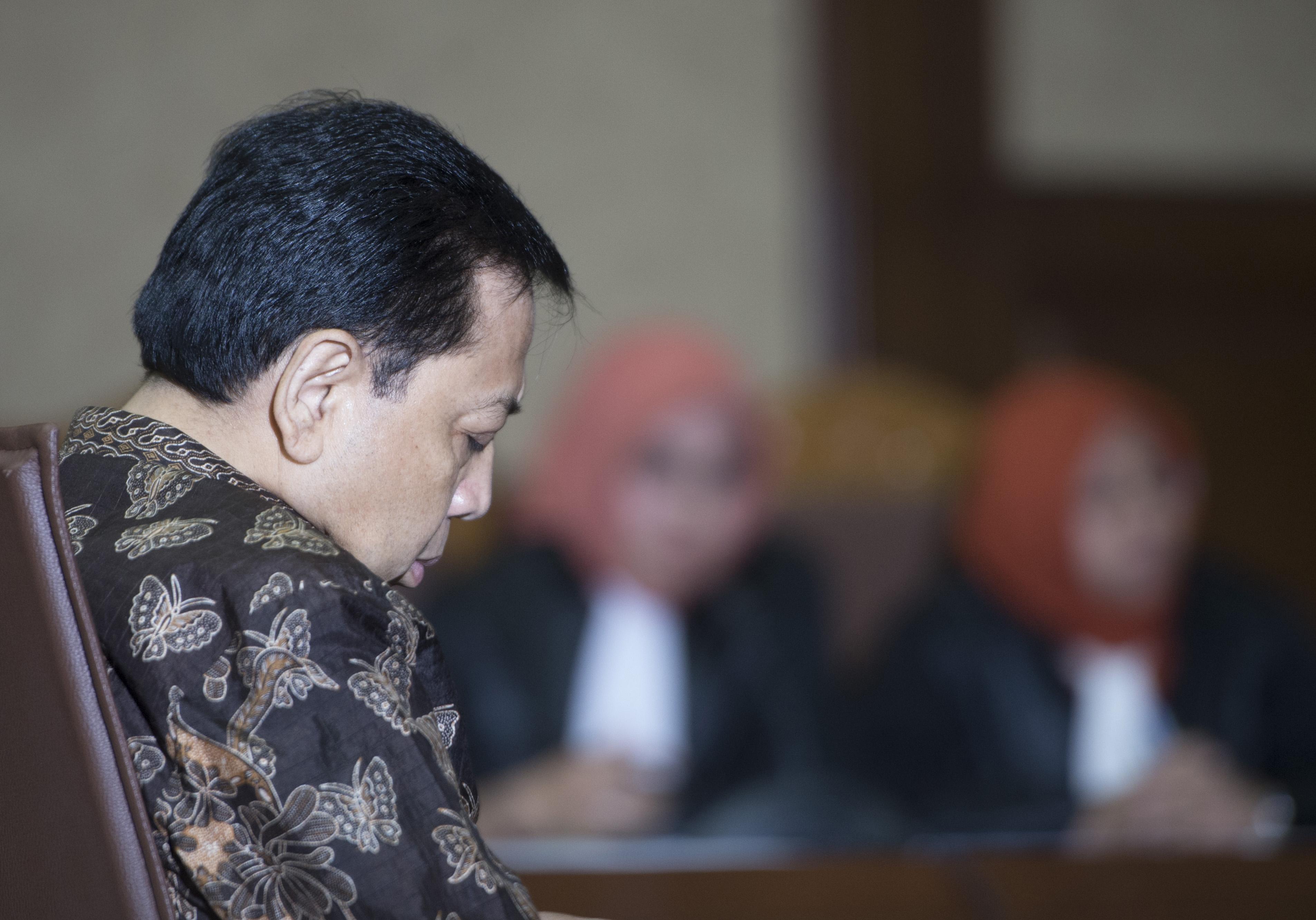 Justice Collaborator Novanto Terancam Gugur