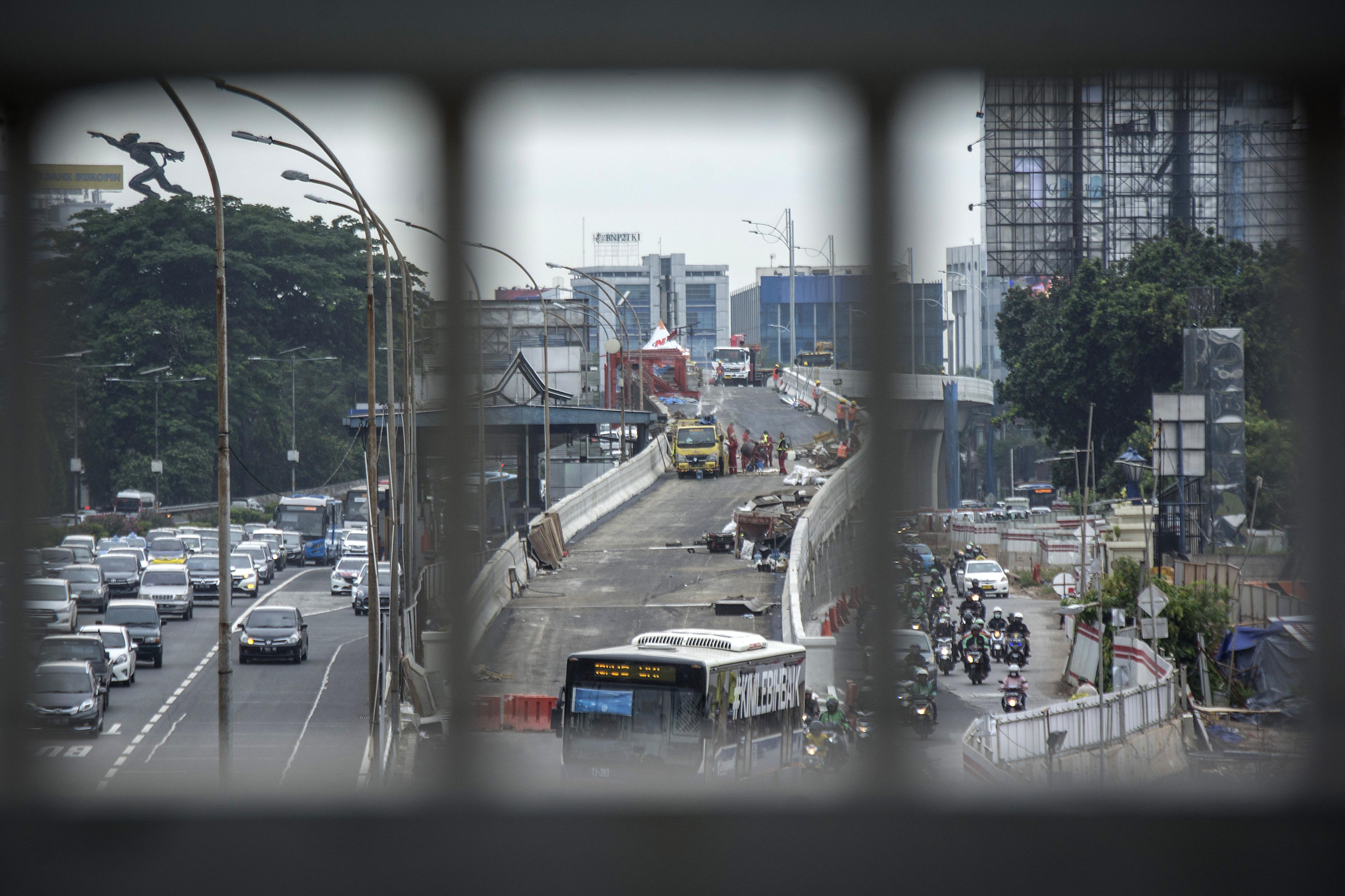 Jembatan Layang Pancoran Diuji Coba Besok