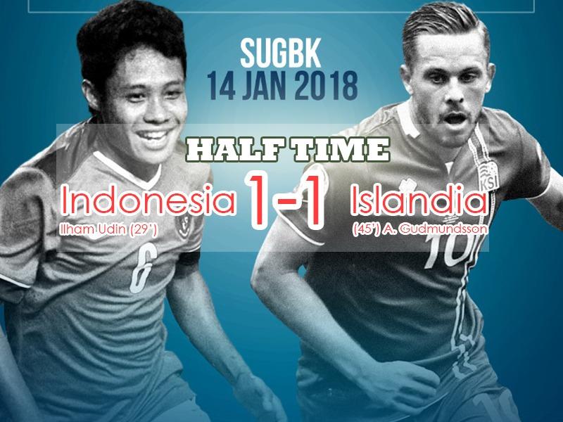 Saling Balas Gol, Indonesia vs Islandia Masih Sama Kuat