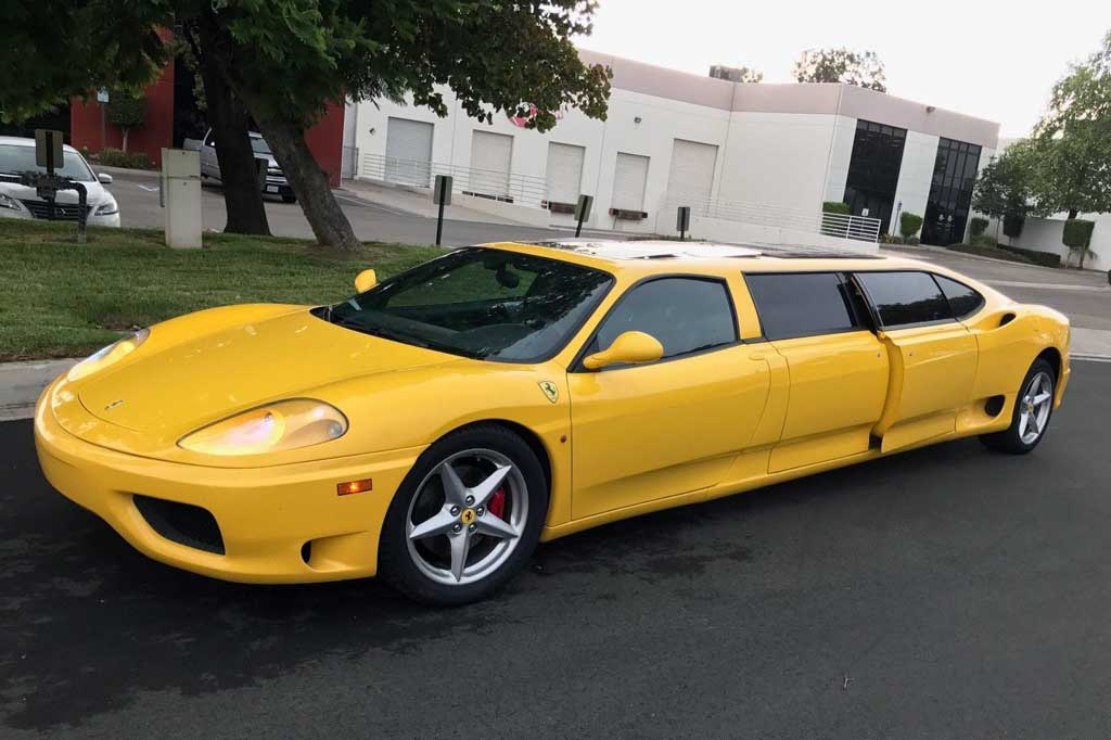 Limusin Ferrari Modena 360, Supercar Bergaya Unik