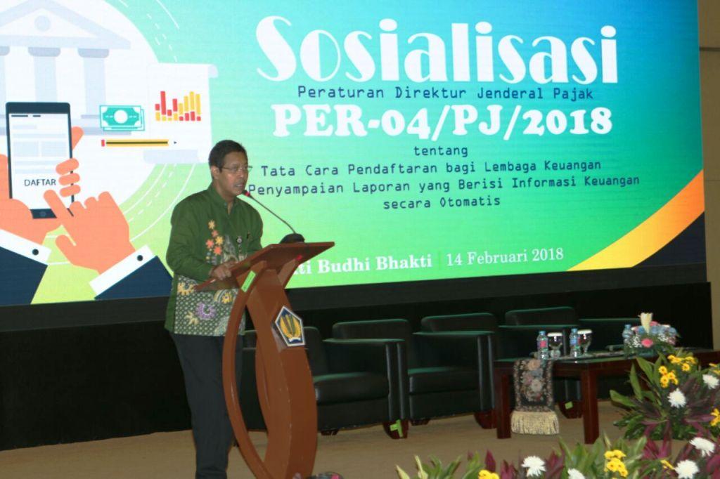 DJP Sosialisasi Tata Cara Lembaga Keuangan Laporkan Data Keuangan