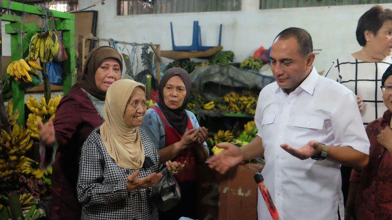 Sambangi Pasar Petisah, Pedagang Terkejut Didatangi Edy Rahmayadi