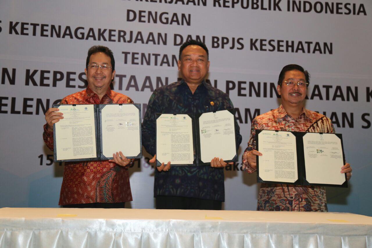 Kemenaker dan BPJS Tandatangani PKS untuk Tingkatkan Sinergitas